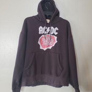 Vintage AC/DC Band Black Sweatshirt Hoodie